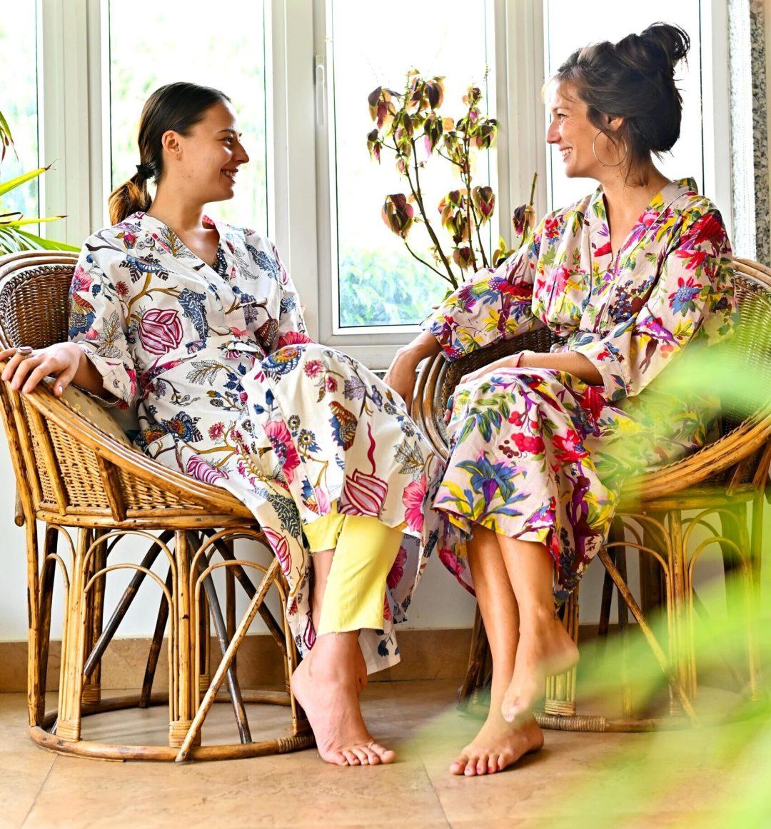 Floral Lounge Wear Kimonos