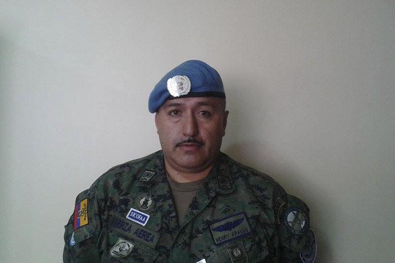 Suboficial Segundo de Fuerza Aérea Ecuatoriana Henry Araujo Araujo