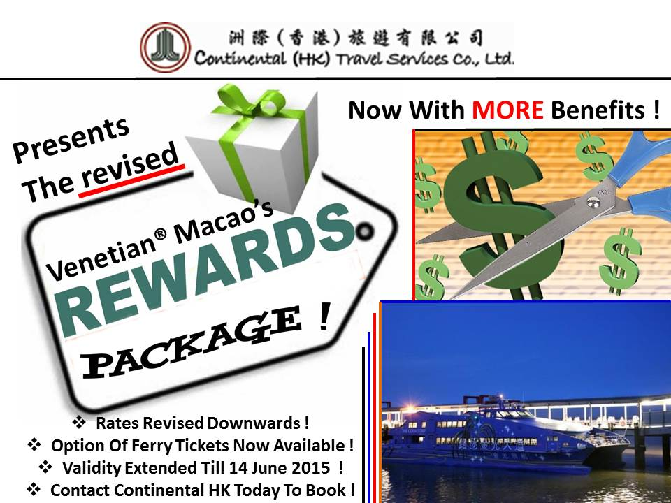 Venetian Macao Rewards Package Revised