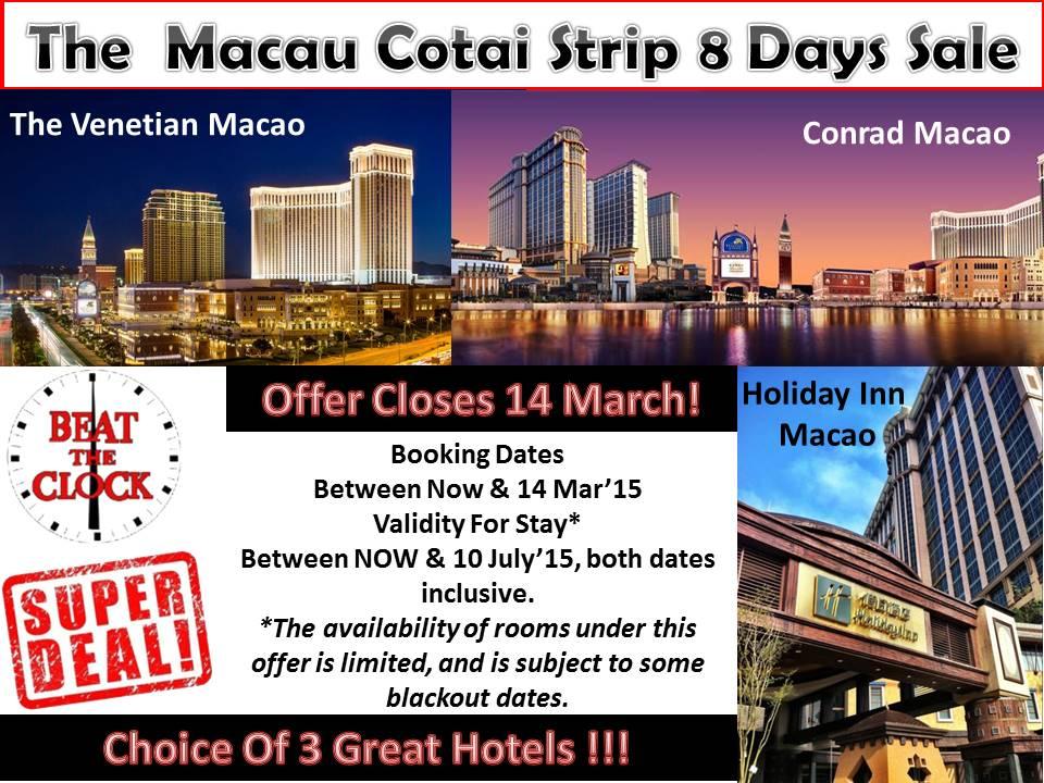 Macau 8 Days Sale Offer