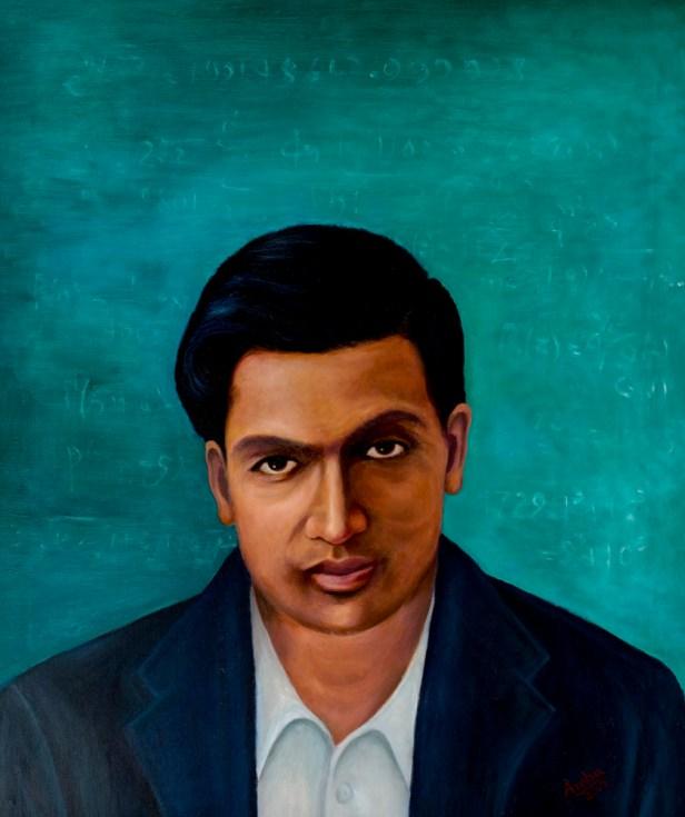 Srinivasa Ramanujan, portrait painting by Dr. G. Ambika
