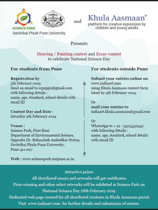 Science Day event - essay contest and kids painting competition