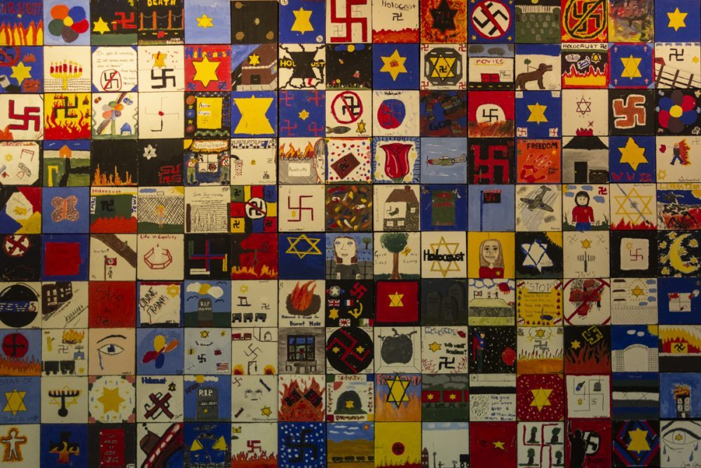 Tiles created by child artists and young artists after a visit to Virginia Holocaust Museum - 2