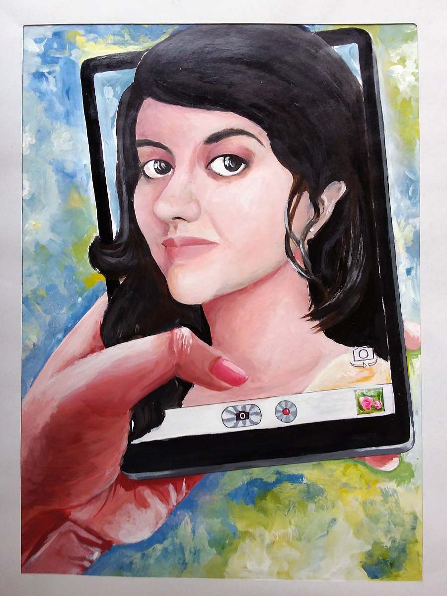 Painting by young artist Ahana Mukherjee from Khula Aasmaan