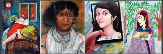 Women painting by child artists and young artists on Wome