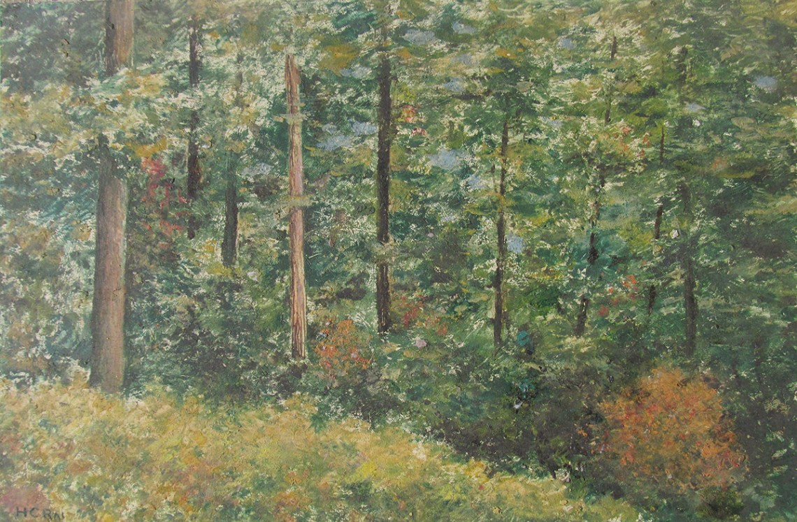 Foundation of my existence, painting by old master H. C. Rai. Posted on Forests Day to highlight forest education and sustainable forest management.