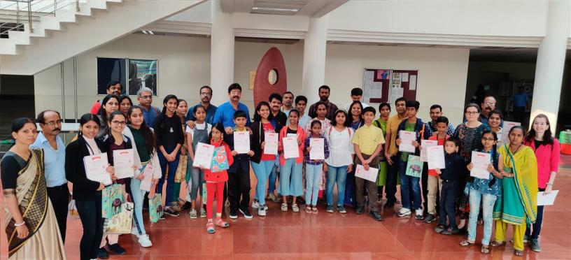 Prize winners & shortlisted students from the painting competition with their parents