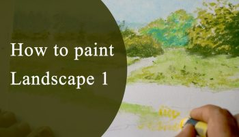 Nature and Landscape painting with oil pastels