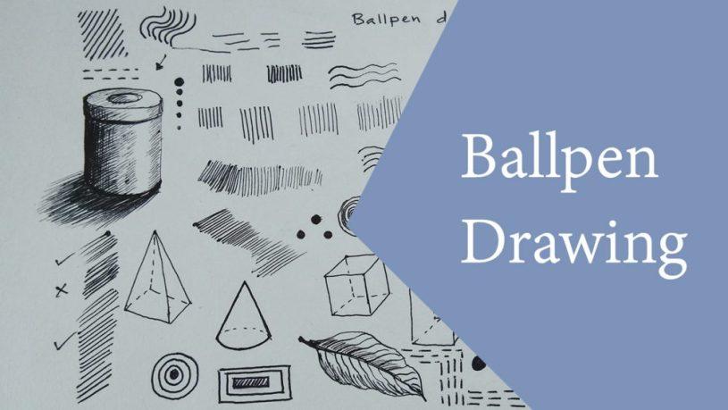 Art tutorial video on Ballpen Drawing or Ballpoint Pen Drawing