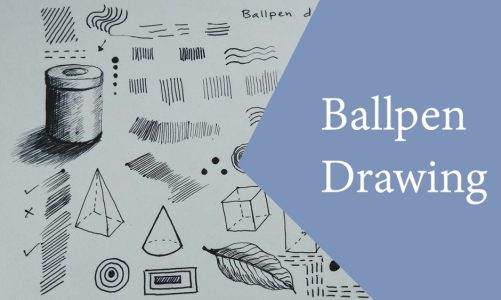 Art tutorial video on Ballpen Drawing or Ballpoint Pen Drawing