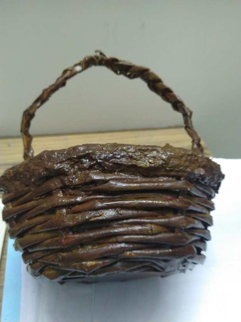 Basket (papier mache) by Gauri Ketkar - art during Covid-19 pandemic