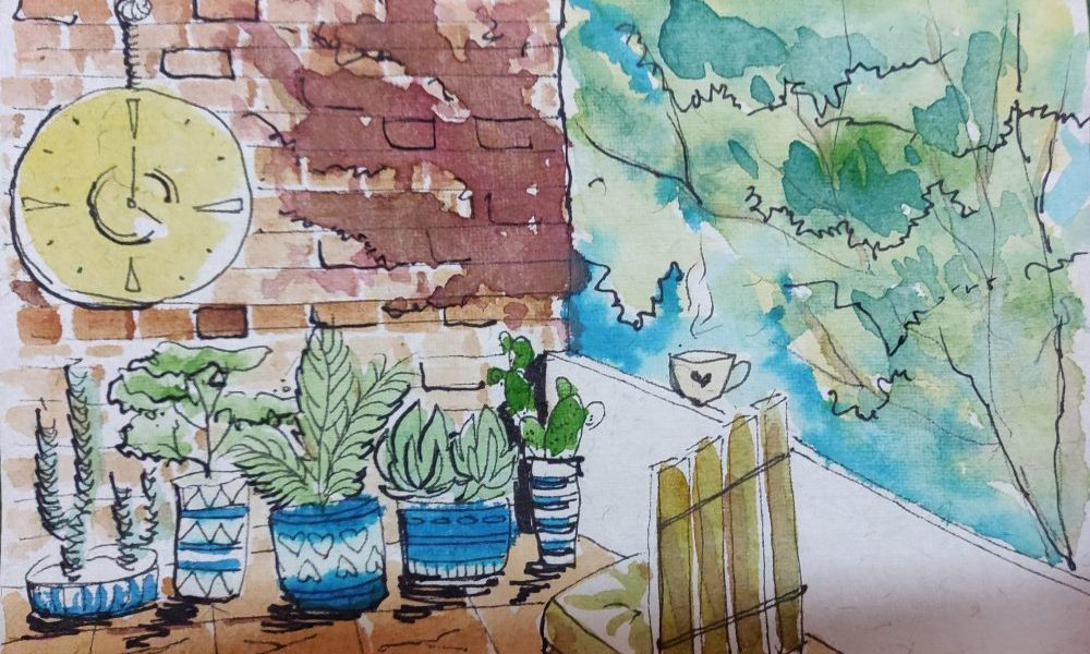 Lockdown painting by Charlette Aaron
