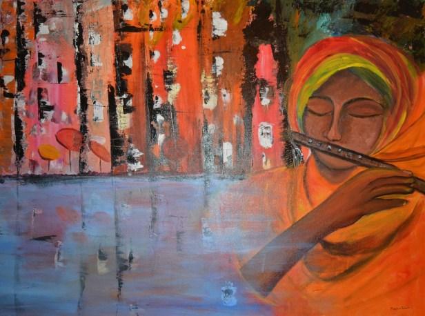 Murlimanohar, painting by Madhu Dhir, Delhi
