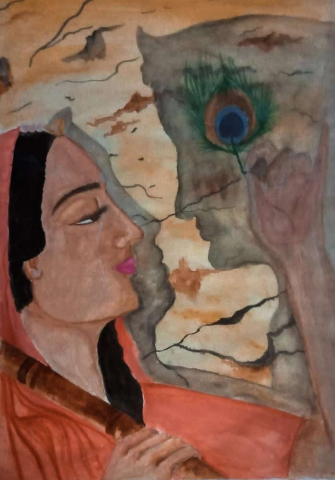 Eternal Love, painting by Aritraa Nandy (class 12),Jyotirmoy Public School, Kolkata