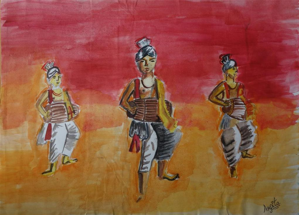 Painting by Arpita Bhat, Kendriya Vidyalaya, Hyderabad, Telangana - honorable mention in Khula Aasmaan free online international art contest - 3