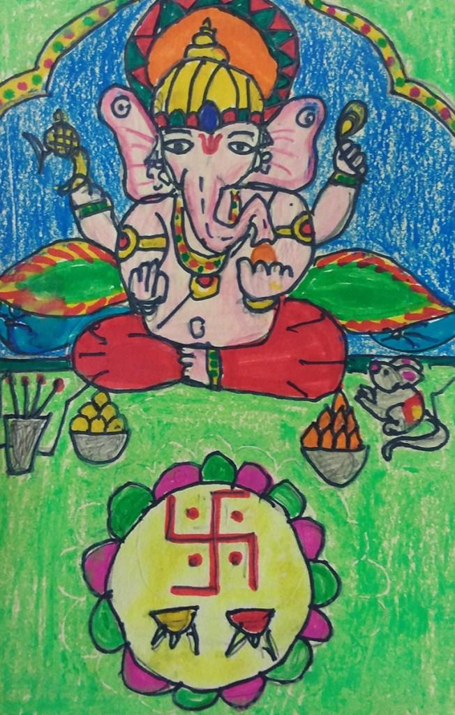 Painting by Hanshal Banawar (8 years), Presidency School, Bangalore, Karnataka - Silver medal in Khula Aasmaan kids drawing competition for July to Sept 18