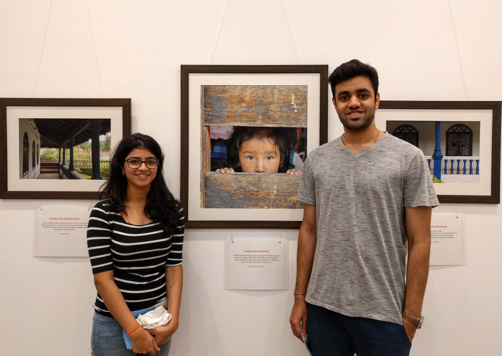 Mihir Vaidya with Kinnari at Milind Sathe's solo photography exhibition at Nehru Centre Mumbai (2016)