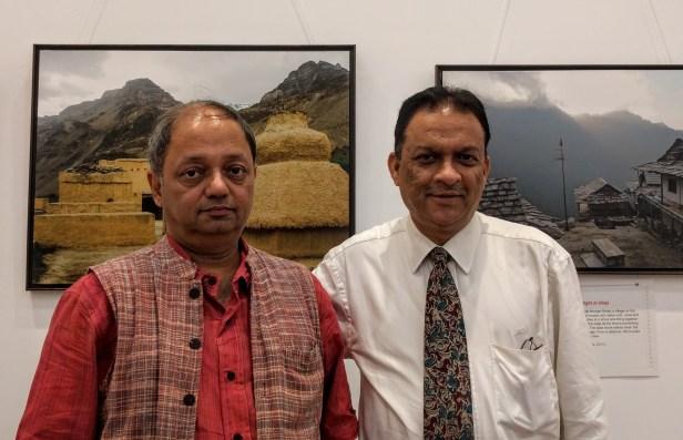 Milind Sathe with Ashok Bharadwaj at Milind Sathe's solo photography show at Nehru Centre Mumbai