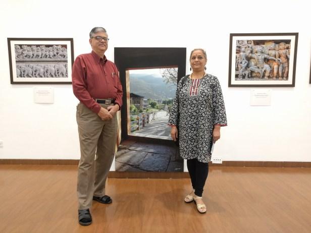 Radhesh and Sujata Joshi at Milind Sathe's solo photography exhibition at Nehru Centre Mumbai (2016)
