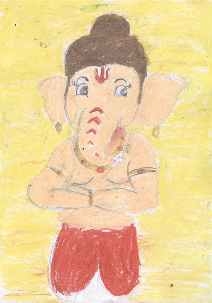 Painting by Saksham Waikar (8 years), New English Medium School, Pune - Shortlist in Khula Aasmaan children's art competition for April to June 2017