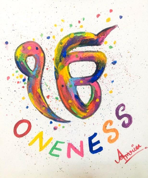 Oneness by Amrita Kaur Khalsa - Art in coronavirus lockdown spread hope, positivity and optimism by creativity and painting