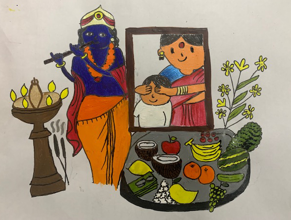 Painting by Dr. Akshita Gokhale - activities during lockdown - art ideas on day 21