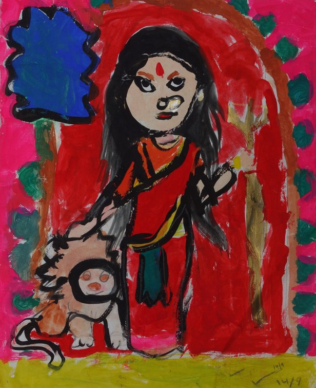 Painting by Ekavira Singh (7 years), Kolkata, West Bengal, Gold Medal in international art contest result