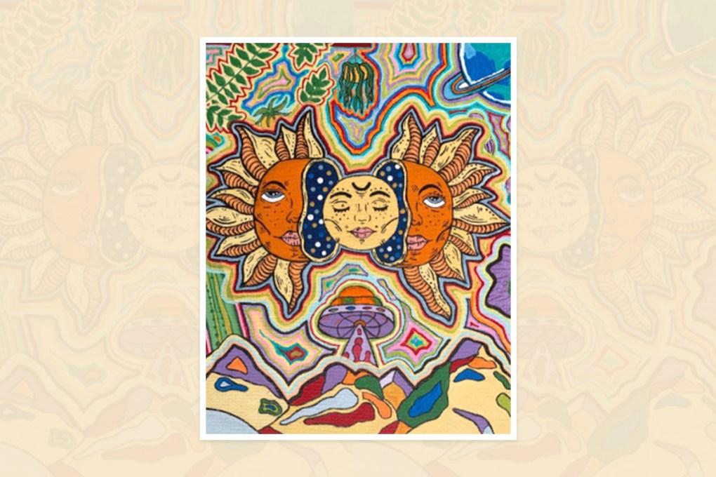 Ishita Rao, Apex, North Carolina - prize winning painting from national art contest in U.S.