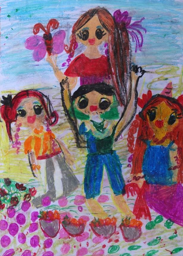 Painting by Neily Aanya Hollupathirage (7 years), Dehiwala, Sri Lanka - Bronze medal