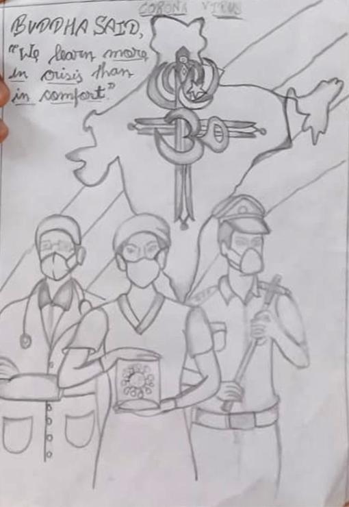 Pencil sketch by Shourya Singh, Lucknow, Uttar Pradesh