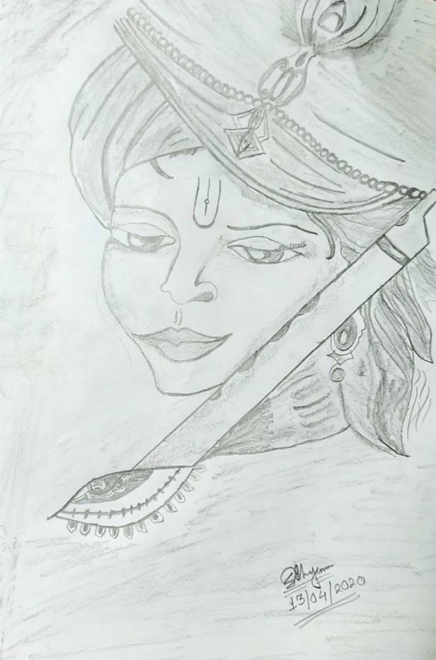 Pencil Sketch by Sohali Shyam, Durgapur, West Bengal