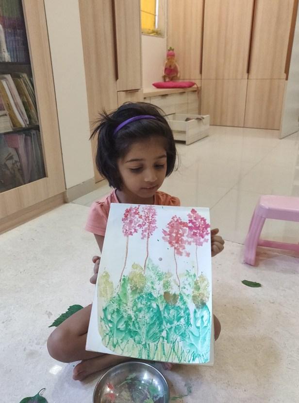 Painting by VeeranginiDeshmukh (3.5 years) - Art in coronavirus lockdown