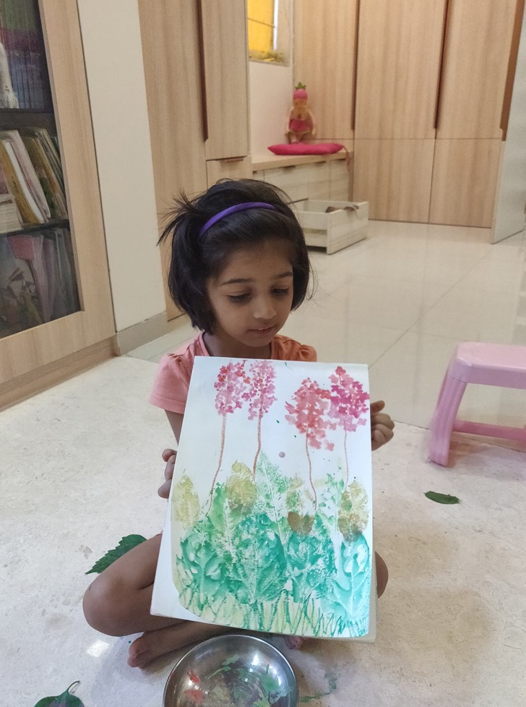 Painting by Veerangini Deshmukh (3.5 years) - Art in coronavirus lockdown