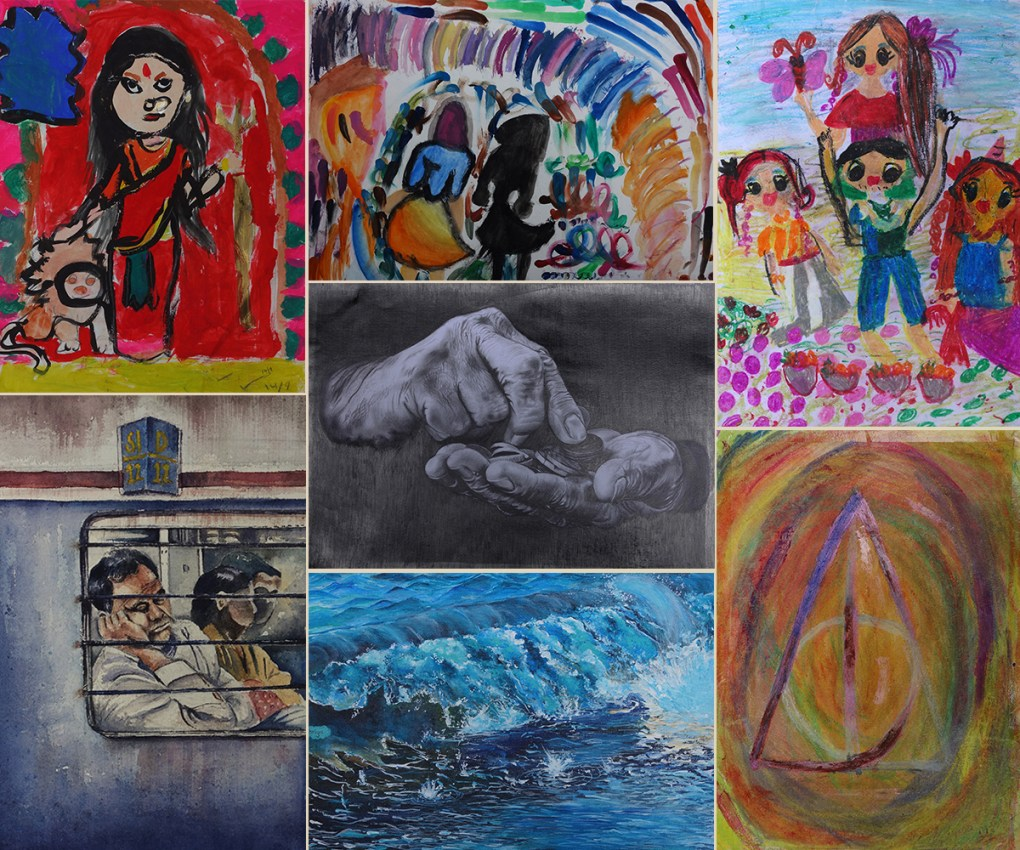 Khula Aasmaan international art contest result for Jan to March 2020 - medal winners, honorable mentions and shortlisted paintings