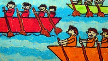 Postcard painting by Ishan Singh 910 years), Mumbai - featured on world post day