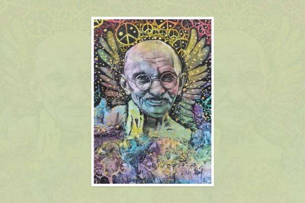 "Artwork by Prima Rungruang, Dokmai Prawet, Bangkok, Thailand for ""World of Mahatma Gandhi"""