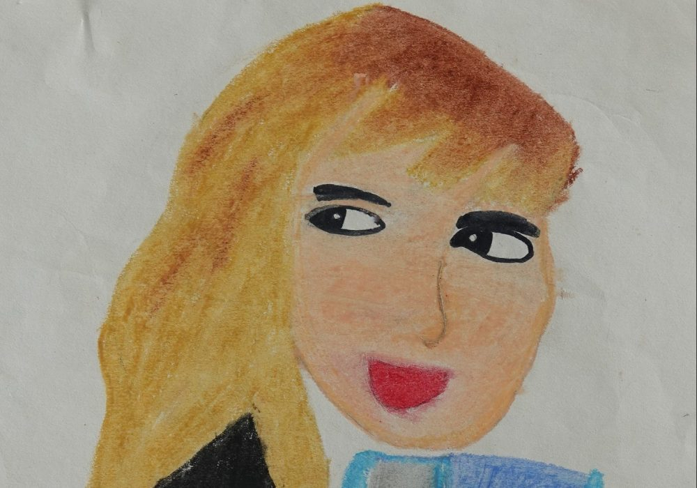 Painting inspired by Hermione Granger from Harry Potter