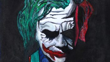Painting of Joker by child artist Rithesh Shet (12 years) - honorable mention in Khula Aasmaan drawing and painting competition for Jan to March 2020