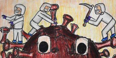 coronavirus pandemic painting by Anjani Mhatre
