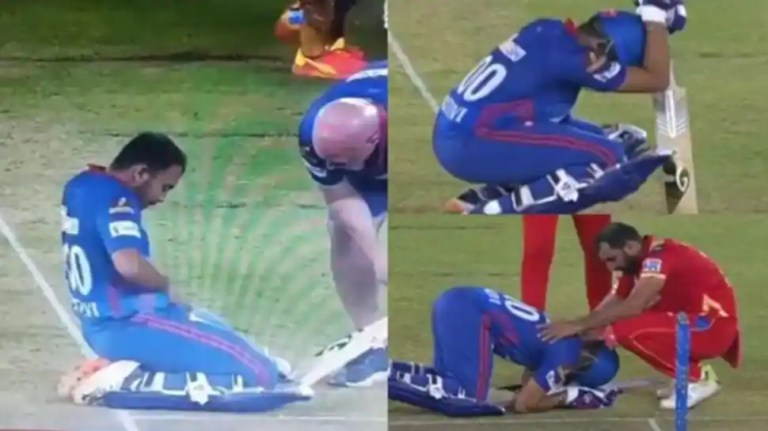 IPL 2021 DC vs PBKS: Prithvi Shaw gets hit on crotch, smiles after looking into his pants, video goes viral – WATCH | Cricket News