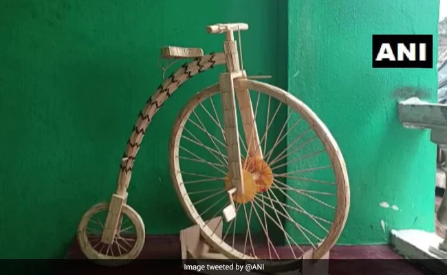 Odisha Teen Takes Us Back To History Of Bicycles With Matchsticks