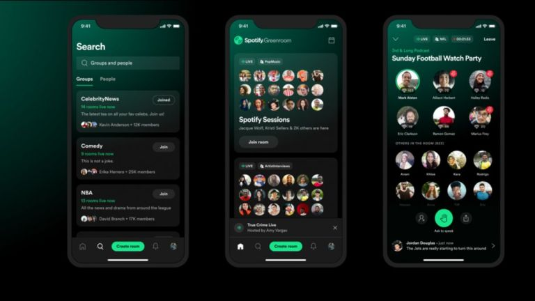 Spotify Launches Greenroom, a Clubhouse Competitor
