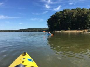 Kayaking on Lake Monroe