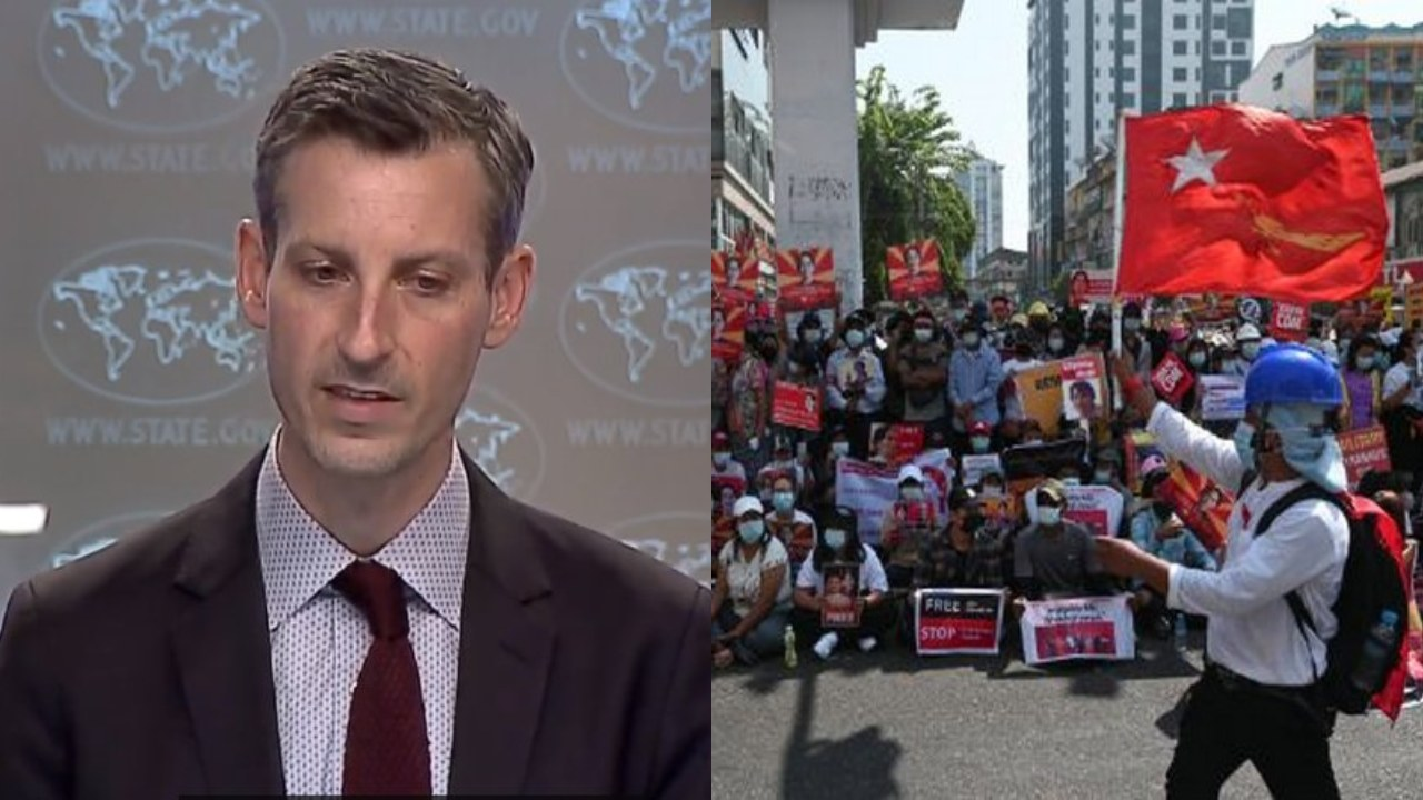 'We stand with the people of Burma', says US State Department Spokesperson Ned Price