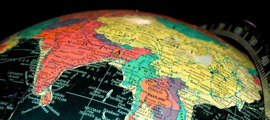 Индия и Китай на карте