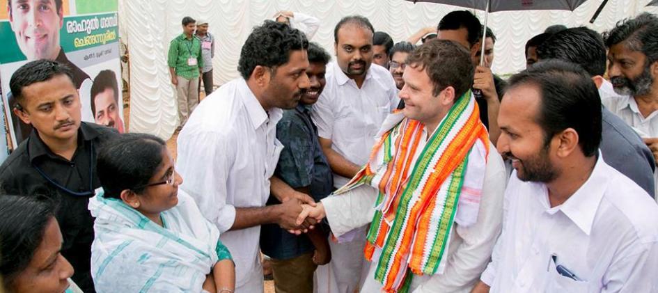 Рахул Ганди в период предвыборной кампании