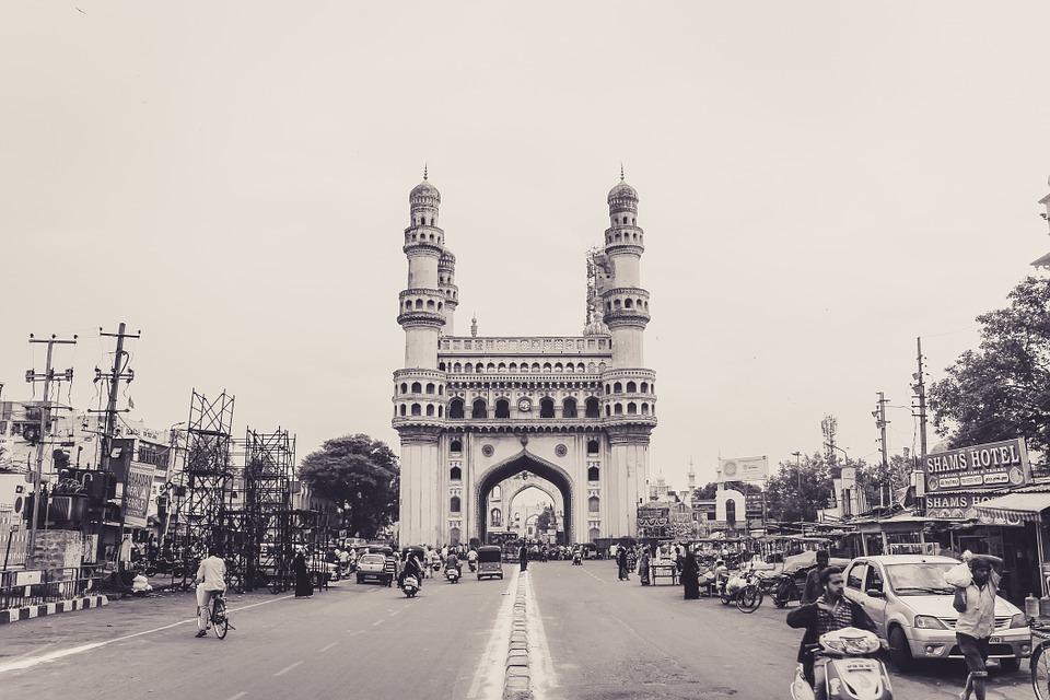 The beautiful Charminar Monument in Hyderabad, Andhra Pradesh