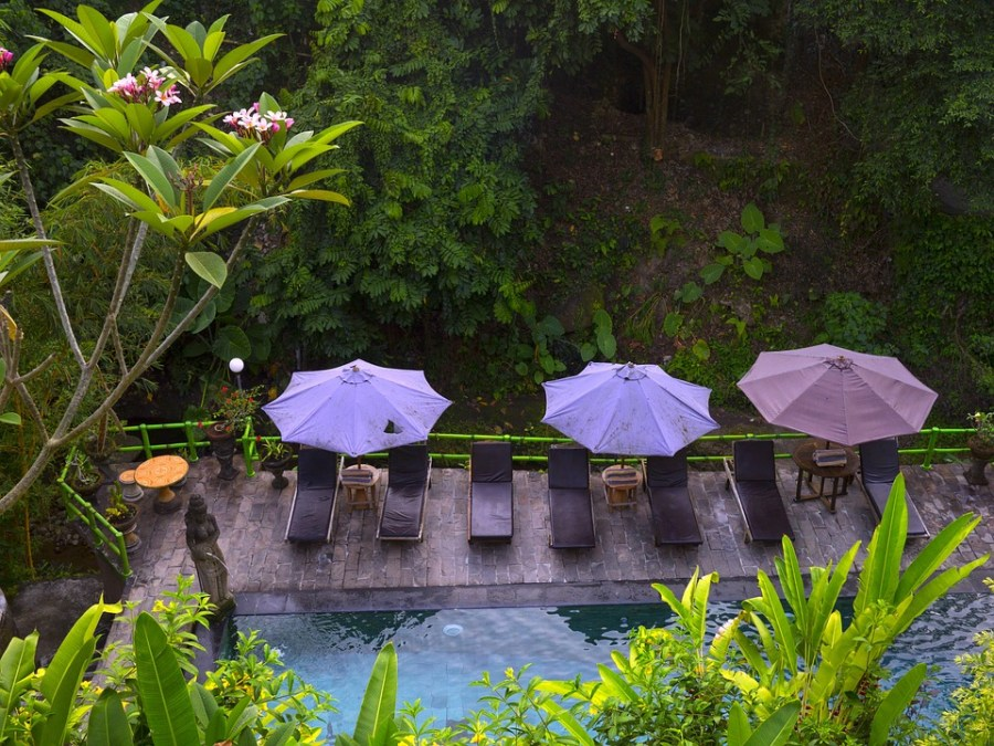 A private and serene area of a Balinese spa
