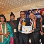 Arun Mehta Receives Mahatma Gandhi Pravasi Samman Award