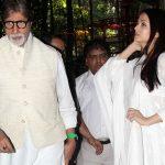 Amitabh Bachchan, Aishwarya At Prayer Meet For Music Composer Aadesh Shrivastava